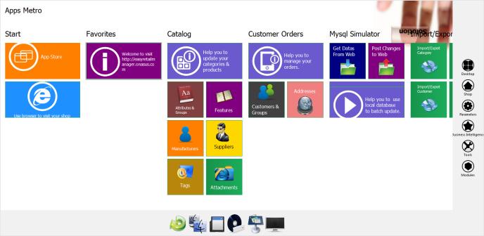 Prestashop 1.5 desktop admin tool