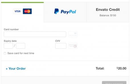 Envato-card paiement