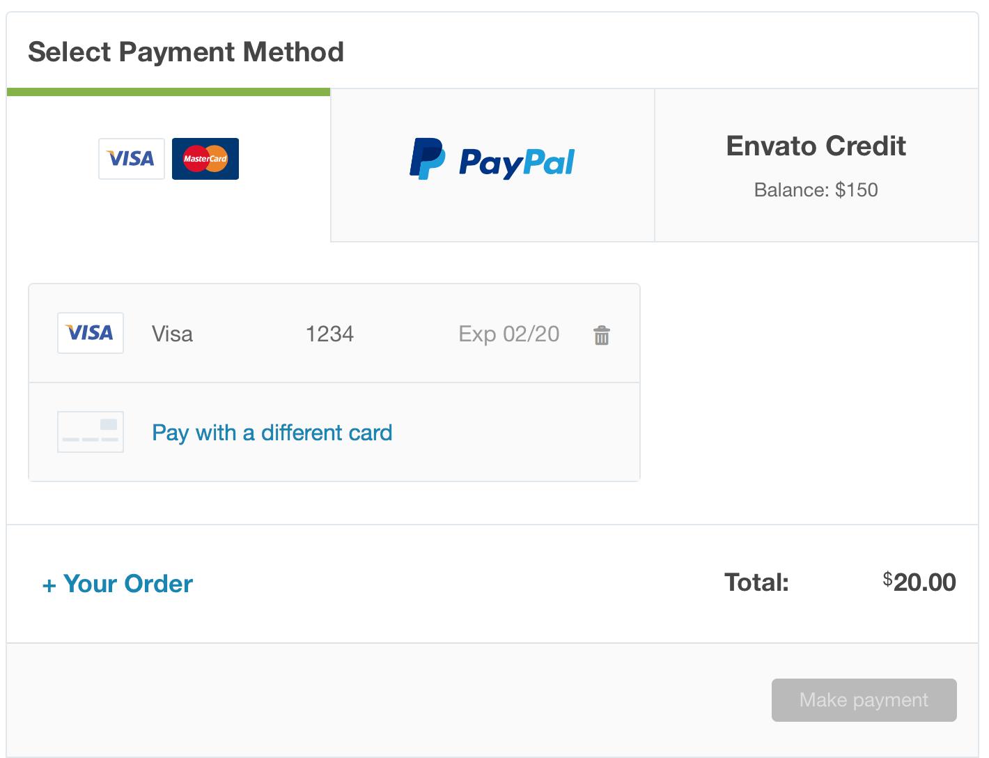 Envato-saved-paiement-card