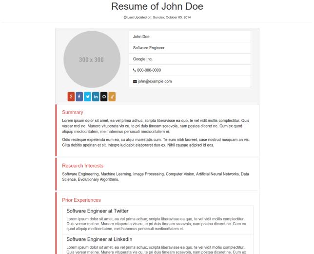 bootstrap-Resume-cv